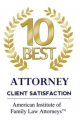 10 best attorney badge from the American Institute of Family Law Attorneys | Law Offices of Robert Tsigler | NYC Federal Defense Lawyer